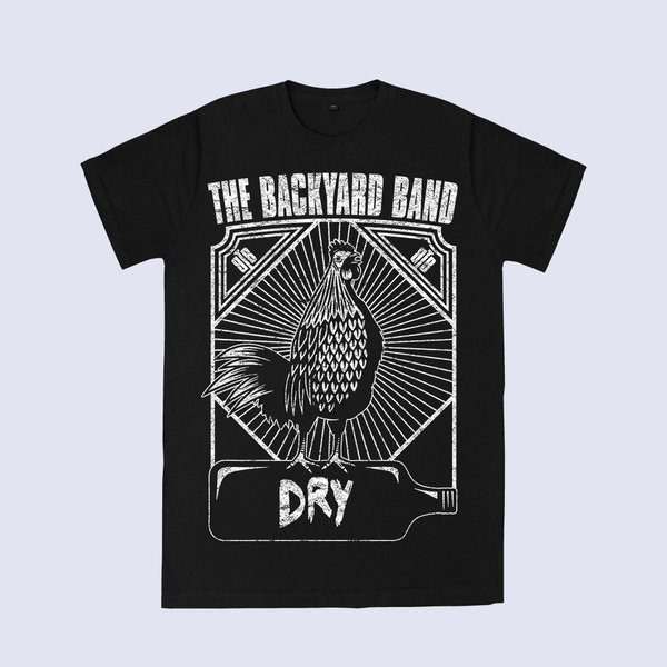 "THE BACKYARD BAND T-Shirt ""DRY"" [Schwarz]"