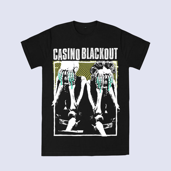 "CASINO BLACKOUT T-Shirt ""(Un)Happy Kadaver"""